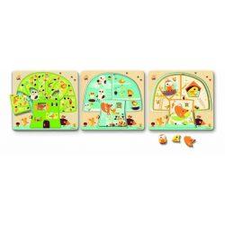 Lombkorona - Három rétegű fa puzzle - Tree house - Fa puzzle - Djeco