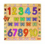 Szám párosító - 1 - 10 - ig formaberakó - Fa puzzle - Djeco