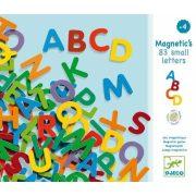 Színes betűkészlet, nagybetűk 83 db - Mágneses játék - Djeco