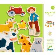 Farmos képalkotó mágneses játék - Mágneses kirakó 24 db - Djeco