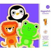 Vicces mágneses dzsungel állatok - Mágneses kirakó 24 db - Djeco