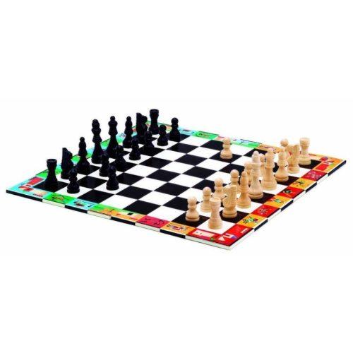 Három az egyben táblajáték - Chess + Checkers - Djeco