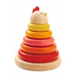 Montessori Csibe - Montessori torony építő - Djeco