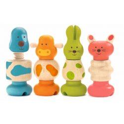 Csavaros állatok - Kreatív állat figurák - Vis - animo - Djeco