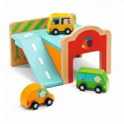 Mini garázs autókkal - Minigarage - Djeco