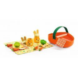 Nyuszis piknik kosár - Jojo's picnic set - Djeco