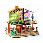 Színes modern emeletes babaház - Colour house - Djeco
