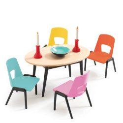 Modern ebédlő - Babaházhoz - The dinning room - Djeco