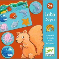 Ki hol él - Lottójáték - Animals lotto - Társasjáték - Djeco