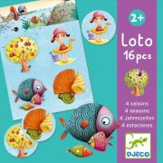 4 Évszak természetben - Lottójáték - Lotto 4 seasons - Társasjáték - Djeco