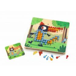 Állatos pötyi játék - Mosaico Rigolo - Mozaik  - Djeco