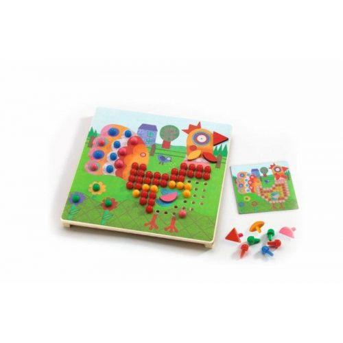 Vegyes pötyi játék - Mosaico animo - Vigyázz mozaik - Djeco