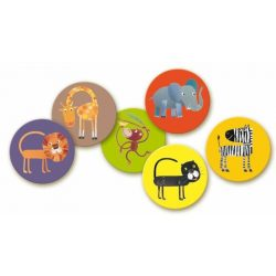 Dzsungel állatok memóriajáték - Memo jungle - Djeco