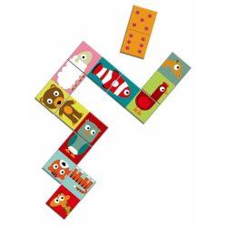 Félből egész állatos dominó - Domino Animo - Puzzle - Djeco