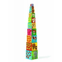 Legjobb barátok - toronyépítő kocka  - 10 my friends blocks - Djeco