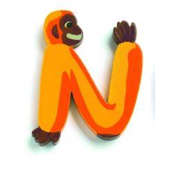 N - Állatos betűk fából - Djeco