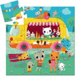 Fagylaltos cica dobozos puzzle 16 db - os - Ice cream truck - Djeco