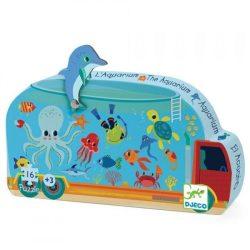 Akvárium dobozos puzzle 16 db - os - The aquarium - Djeco