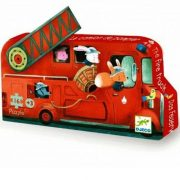 Tűzoltó dobozos puzzle 16 db - os - The fire truck - Djeco