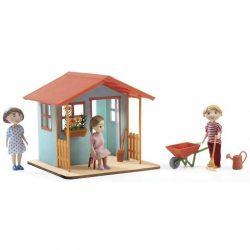 Kerti kisház - babaszoba kiegészítő - Garden playhouse - Djeco