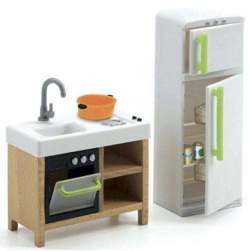 Konyhaberendezés - Babaházhoz - Compact Kitchen - Djeco