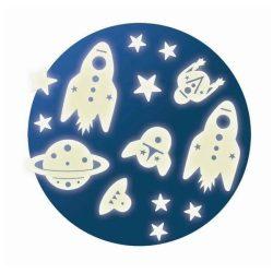 Space mission - foszforeszkáló falmatrica - Djeco