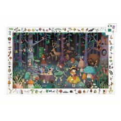 Varázslatos erdő - mefigyelő puzzle 100 db - os - Enchanted Forest - Djeco