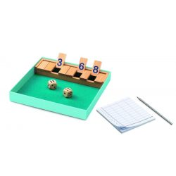 Kockapóker - Logikai társasjáték - Shut the box  - Djeco