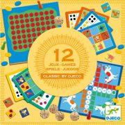 12 Klasszikus társasjáték 4 éves kortól - Classic box 4+ - Djeco