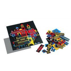 Épületek mozgó optikai puzzle 123 db-os - Ville - 123pcs - Djeco