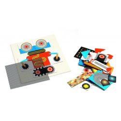 Robotok mozgó optika puzzle 58 db-os - Robots - 58pcs - Djeco