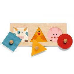Háziállatos forma puzzle - Formabeillesztő - FormaBasic - Djeco