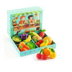 Louis & Clementine zöldséges pultja 12 db-os - Louis & Clementine - Djeco