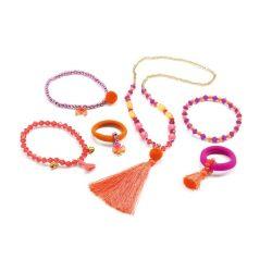 Gyermek ékszeres doboz - Jewels pompoms and ribbons - Djeco