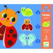 Katica és barátai 3, 4, 5 db-os puzzle - In the garden - 3, 4, 5 pcs  - Djeco