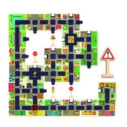 A város 24 db-os óriás puzzle - The city - Djeco