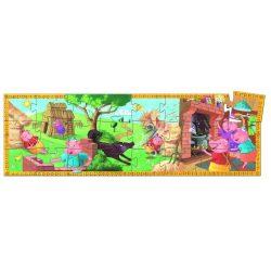 A három kismalac és a farkas, 24-os formadobozos puzzle - The 3 little pigs - 24 pcs - Djeco