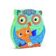 Bagoly család, 24 db-os formadobozos puzzle - Hello Owl - 24 pces - Djeco