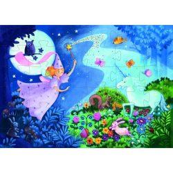 Álomtündér és az Unikornis, 36 db-os formadobozos puzzle - The fairy and the unicorn - 36 pcs - Djeco