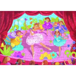 Balerina előadás, 36 db-os formadobozos puzzle - The ballerina with the flower - 36 pcs - Djeco
