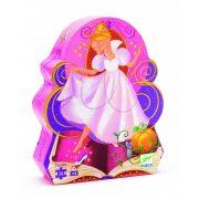 Hamupipőke, 36 db-os formadobozos puzzle - Cinderella - 36 pcs - Djeco