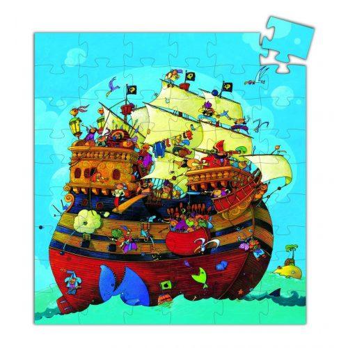 Barbarossa kapitány hajója, 54 db-os formadobozos puzzle - Barbarossa's boat - 54 pcs - Djeco