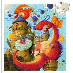 Hős Vaillant és a sárkány, 54 db-os formadobozos puzzle - Vaillant and the dragon - 54pds - Djeco