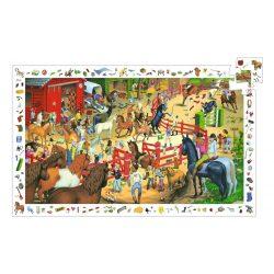 Lovas bemutató, 200 db-os megfigyelő puzzle - Horse riding - 200 pcs - Djeco