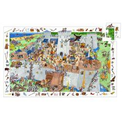 Csata, 100 db-os megfigyelő puzzle - Fortified castle - 100 pcs - Djeco