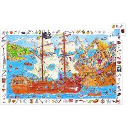 Kalóz csata, 100 db-os megfigyelő puzzle - Pirates - 100 pcs - Djeco