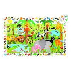 Élet a dzsungelben, 35 db-os megfigyelő puzzle - Jungle - 35 pcs - Djeco