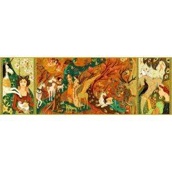 Unikornis és a hölgyek, 500 db-os művész puzzle - Unicorn Garden - 500 pcs - Djeco