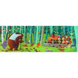 Erdei csoportkép, 100 db-os puzzle - Forest Friends - 100 pcs - Djeco