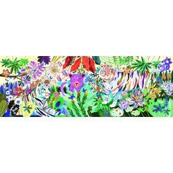 Szivárvány tigrisek, 1000 db-os művész puzzle - Rainbow Tigers - 1000 pcs - Djeco